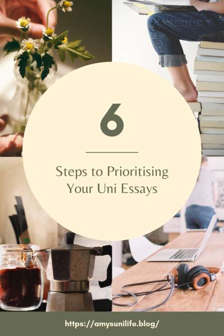 6 Steps to Prioritising Your Uni Essays
